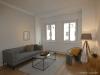 ROOMS4 - top 3 Zimmerwohnung mit großem Balkon und Lift in charmanten Stadthaus - Wohnzimmer